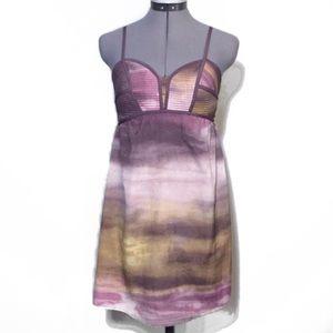 Xhilaration Purple Watercolor Summer Dress S